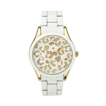 Reloj White&Golden Animal Print