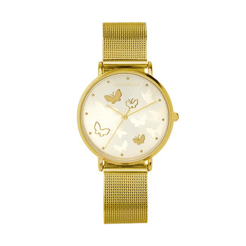 Reloj golden butterflies