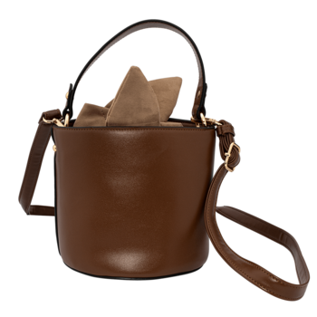 Bolso brown cube