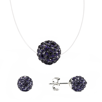 Set Gargantilla y Pendientes Purple Moon