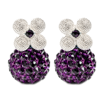 Pendientes Ear Jacket Berrie Amatista